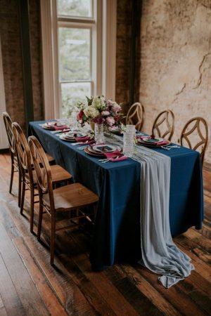 jewel toned wedding table