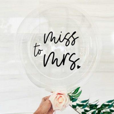 Miss to Mrs Balloon