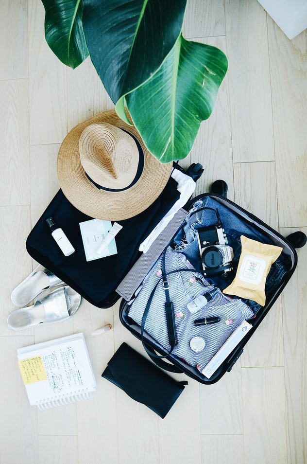 packed travel suitcase