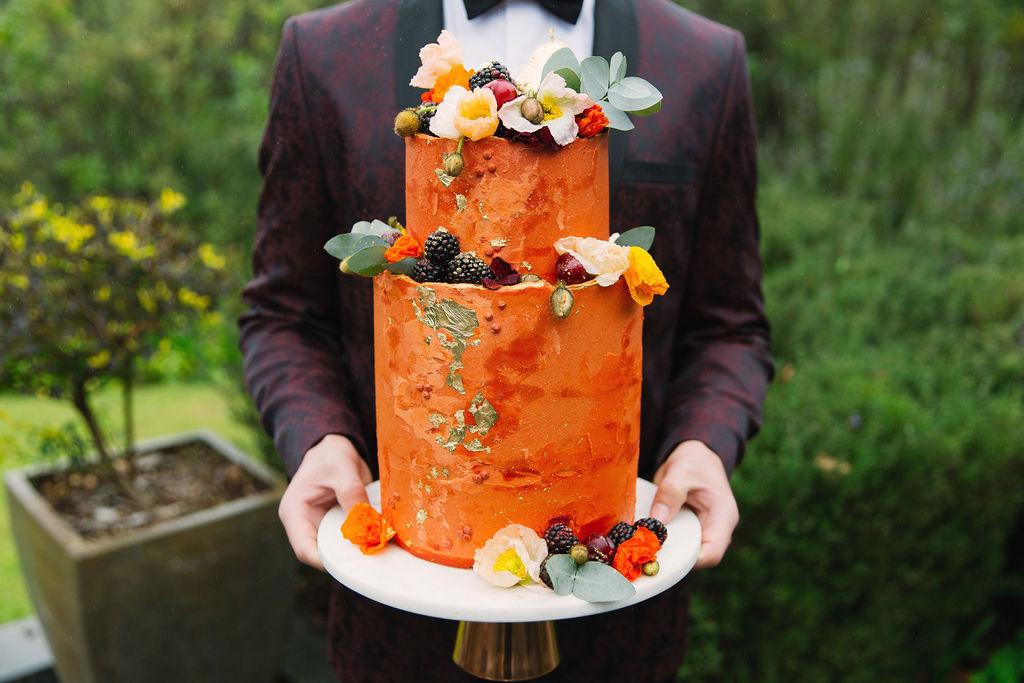 autumn inspired wedding cake